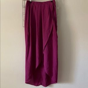 Silky Hi-Low Purple Skirt from Piperlime